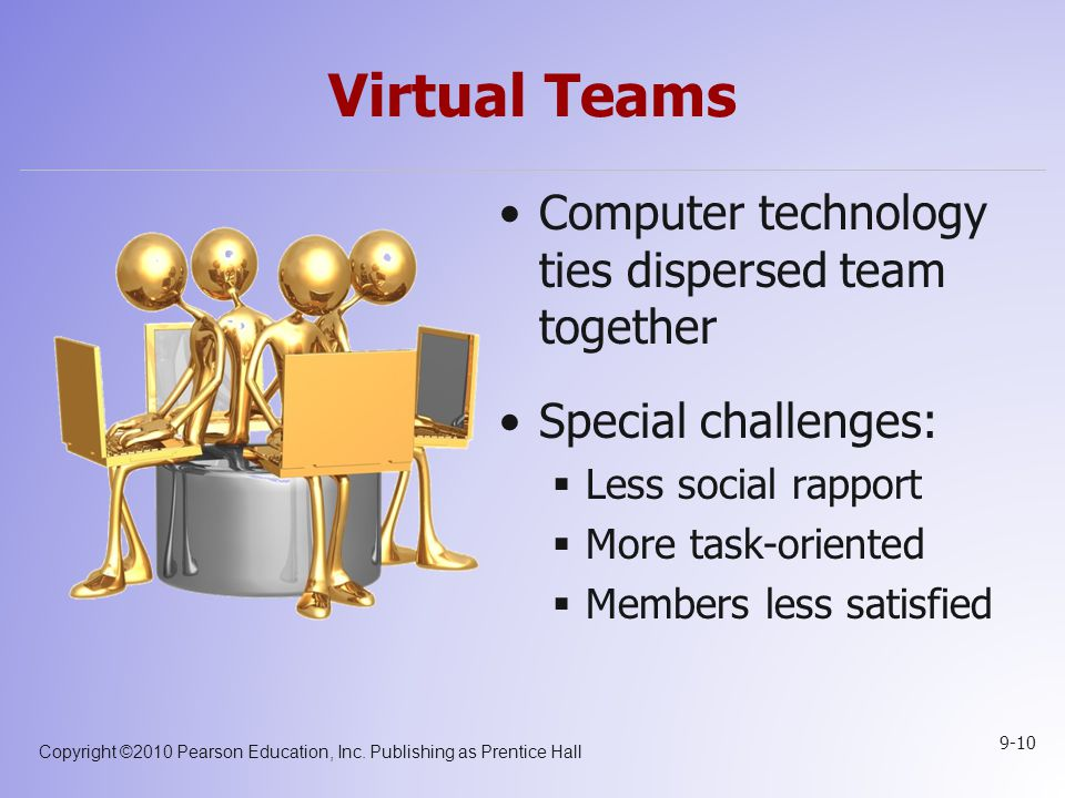 Virtual Teams Computer technology ties dispersed team together