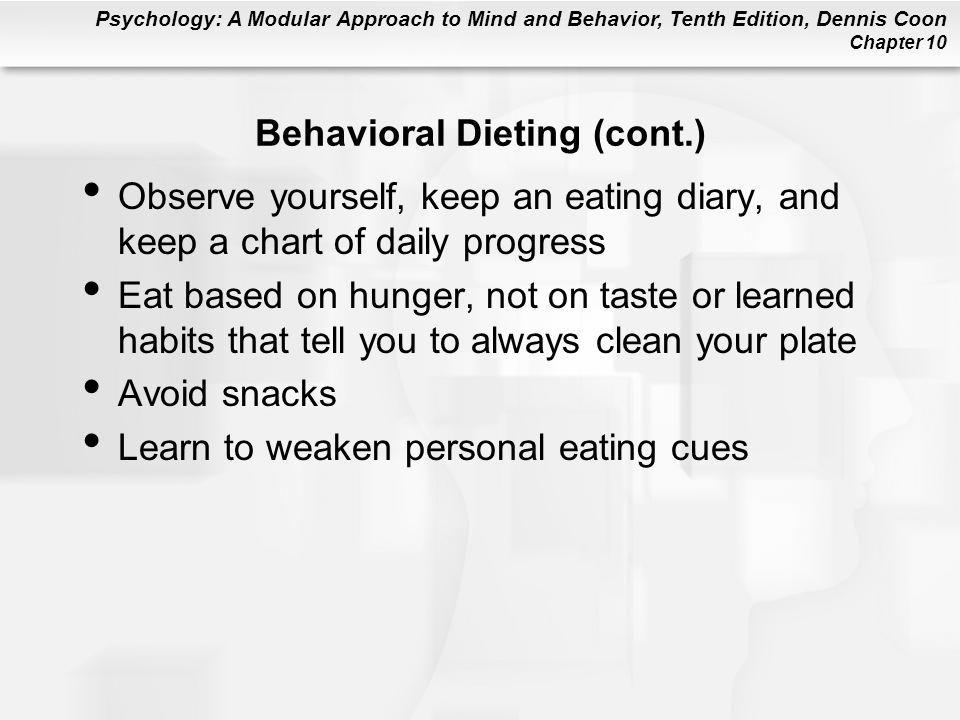 Behavioral Dieting (cont.)