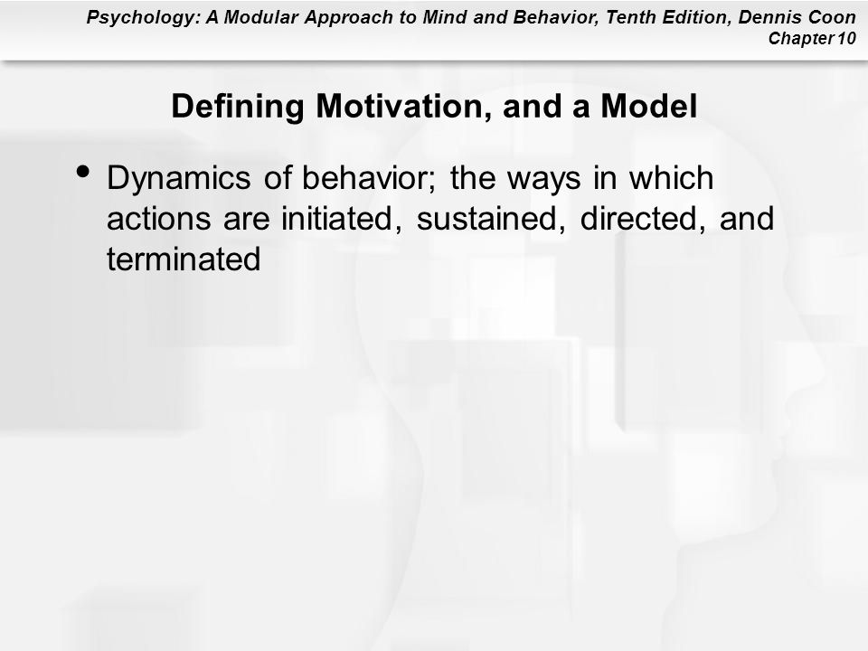 Defining Motivation, and a Model