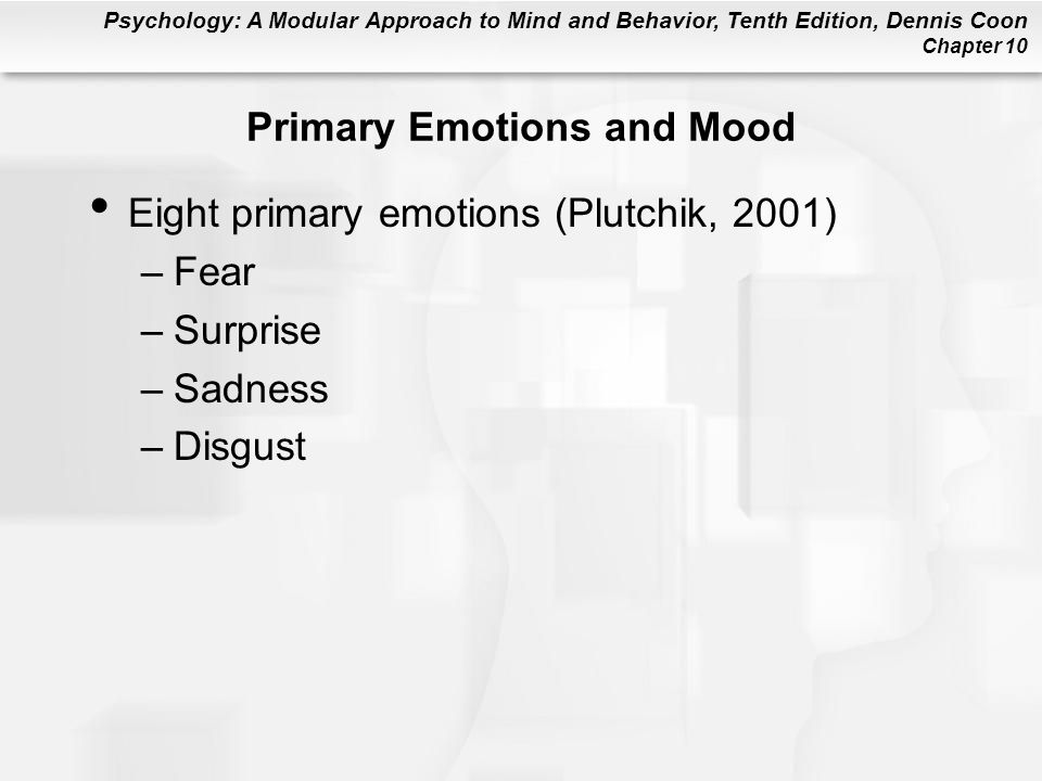 Primary Emotions and Mood