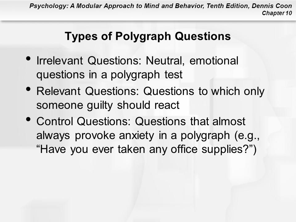 Types of Polygraph Questions