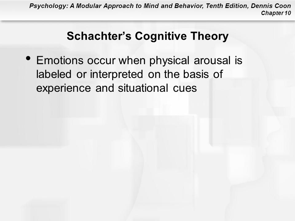 Schachter's Cognitive Theory