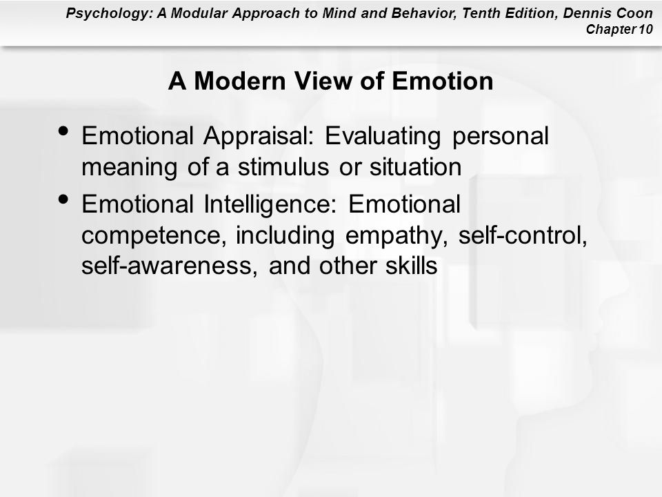 A Modern View of Emotion