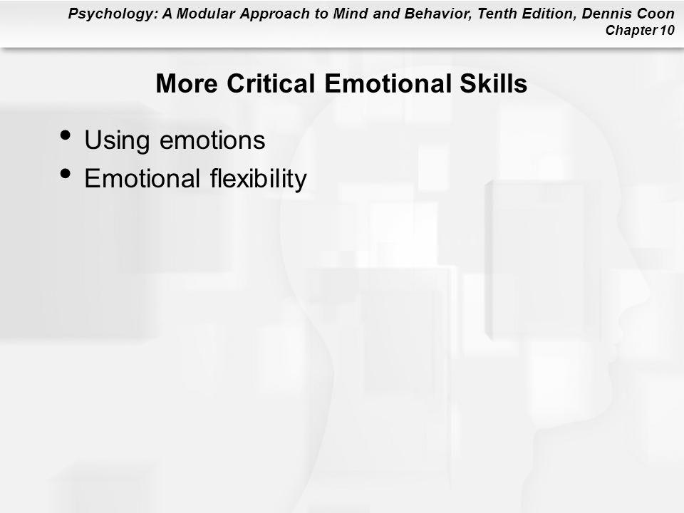 More Critical Emotional Skills