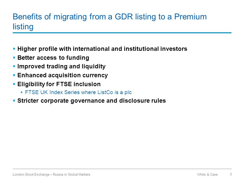 Benefits of migrating from a GDR listing to a Premium listing