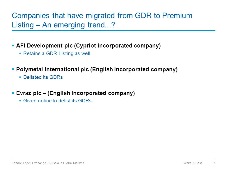 Companies that have migrated from GDR to Premium Listing – An emerging trend...