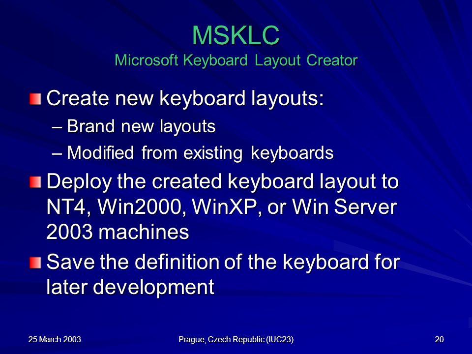 MSKLC Microsoft Keyboard Layout Creator
