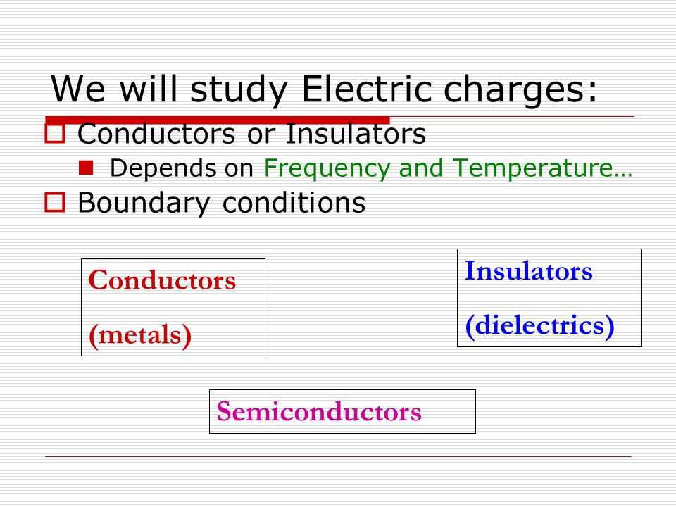 We will study Electric charges: