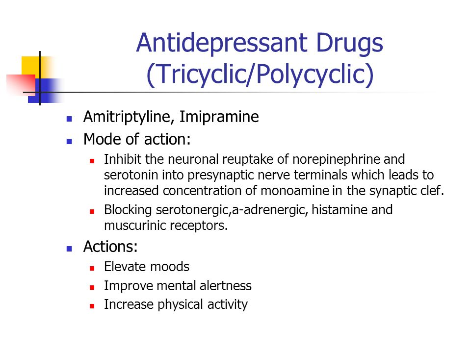Antidepressant Drugs (Tricyclic/Polycyclic)