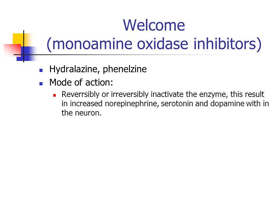 Welcome (monoamine oxidase inhibitors)