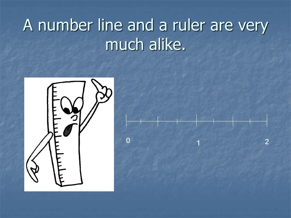 A number line and a ruler are very much alike.