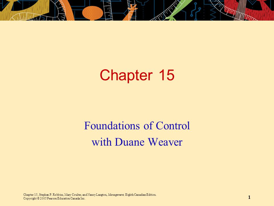 Foundations of Control with Duane Weaver