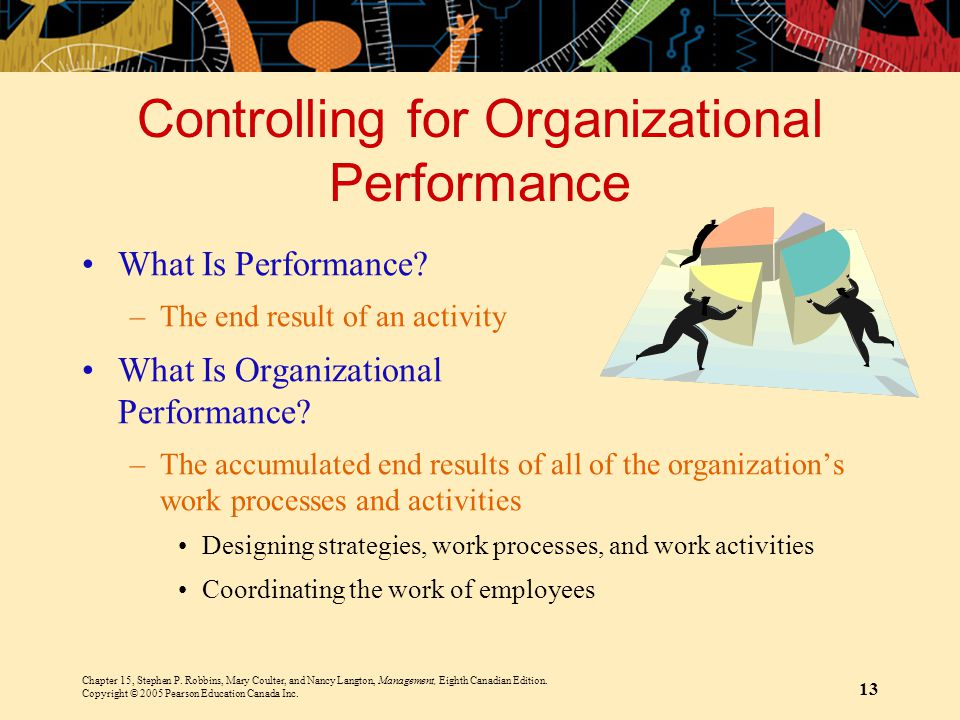 Controlling for Organizational Performance