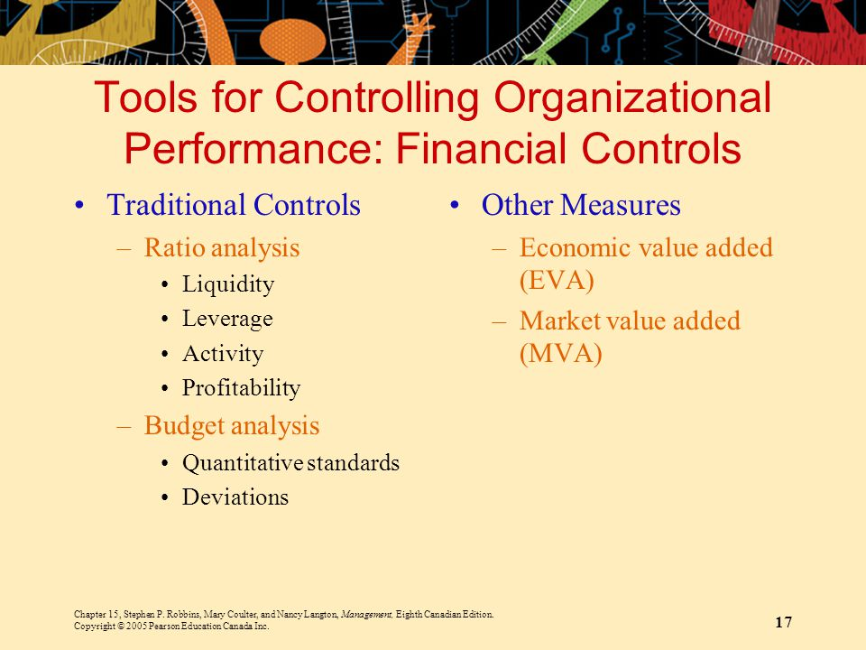 Tools for Controlling Organizational Performance: Financial Controls