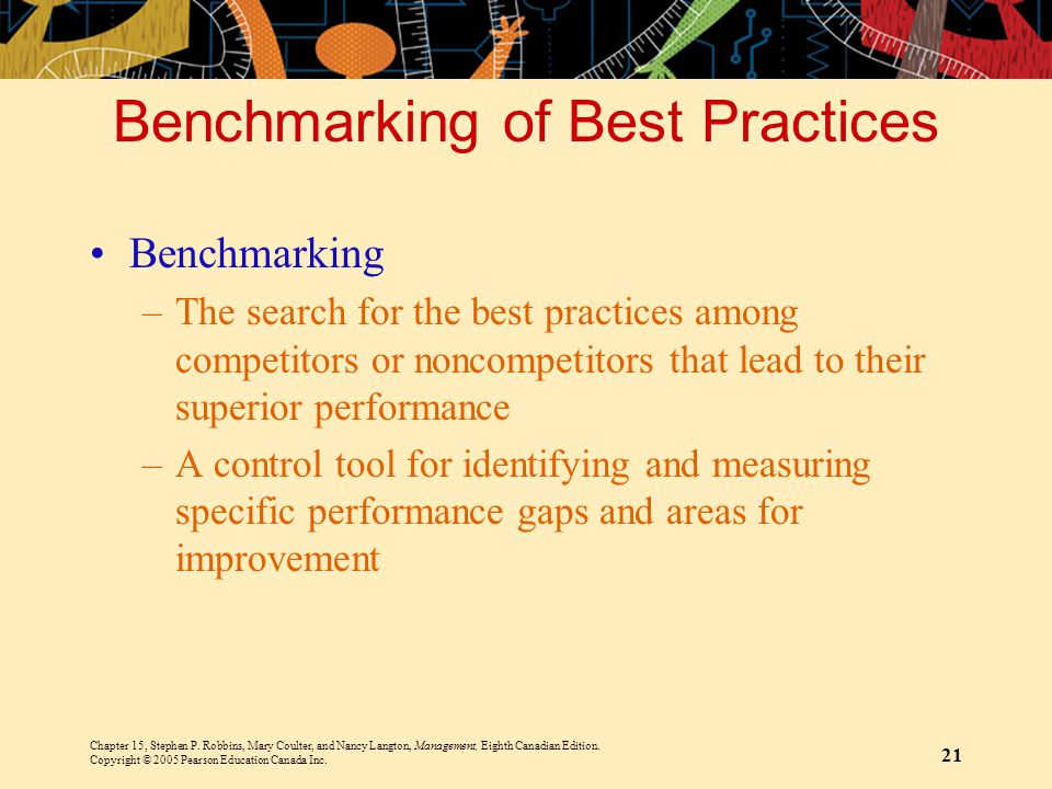 Benchmarking of Best Practices