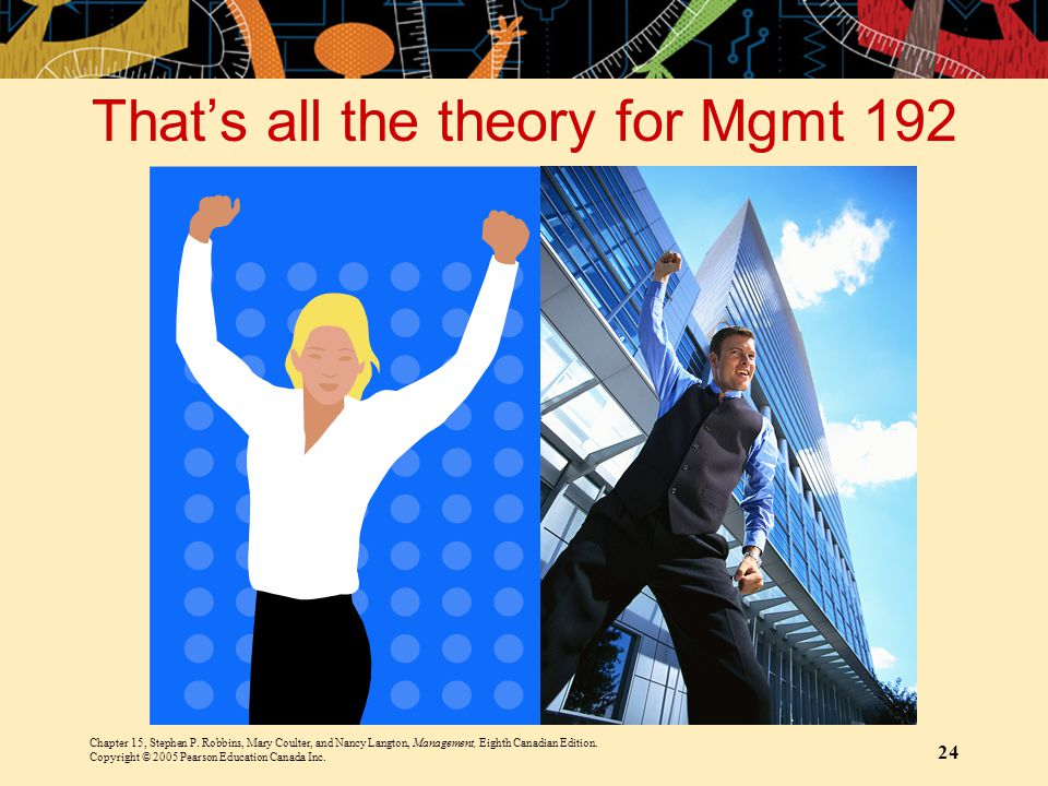 That's all the theory for Mgmt 192