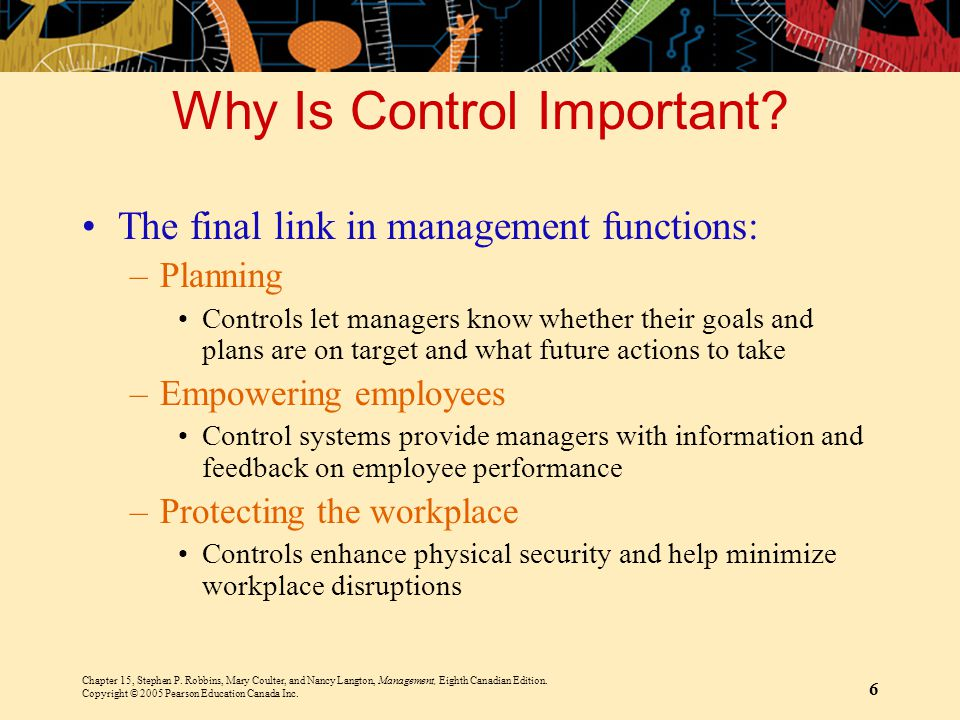 Why Is Control Important