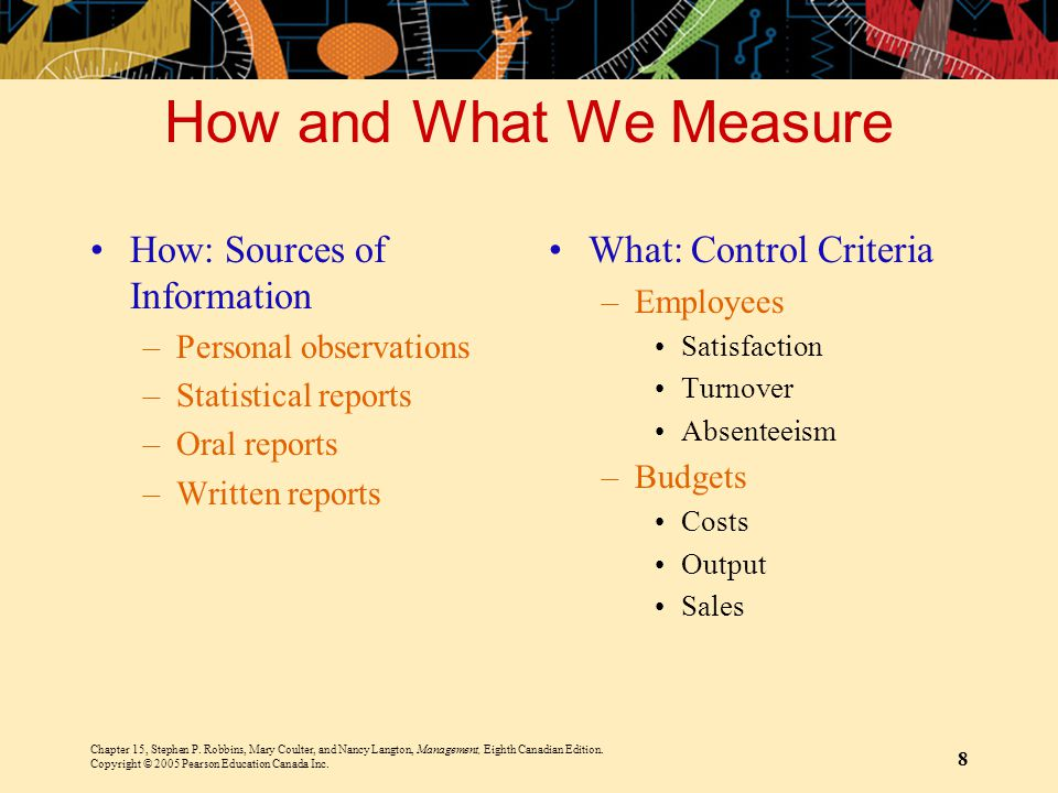 How and What We Measure How: Sources of Information