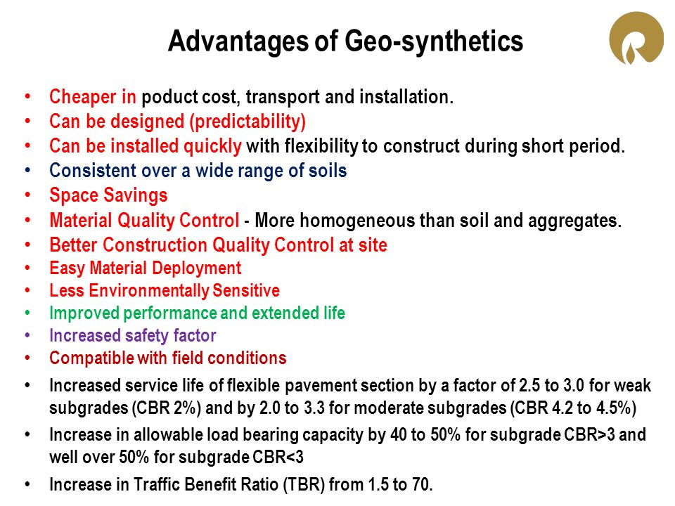 Advantages of Geo-synthetics