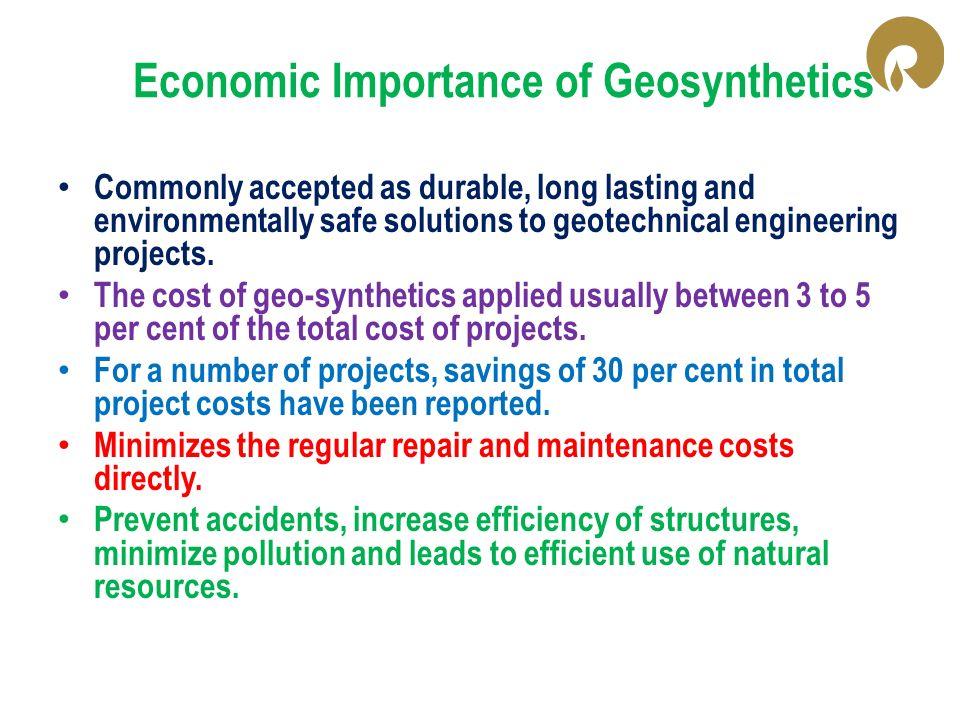 Economic Importance of Geosynthetics