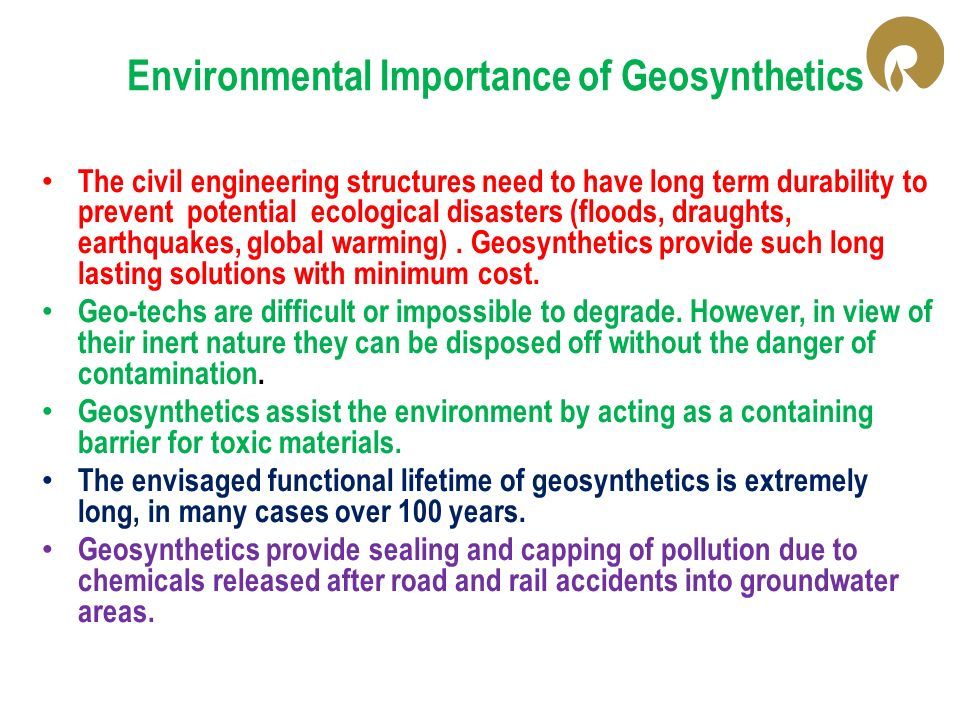 Environmental Importance of Geosynthetics