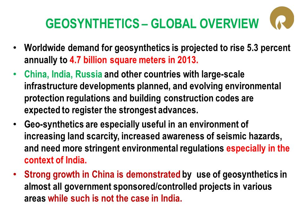 GEOSYNTHETICS – GLOBAL OVERVIEW