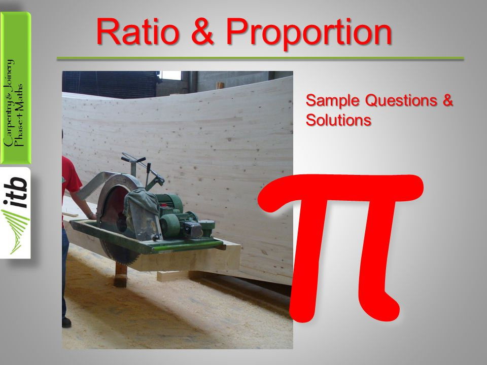 Ratio & Proportion π Sample Questions & Solutions