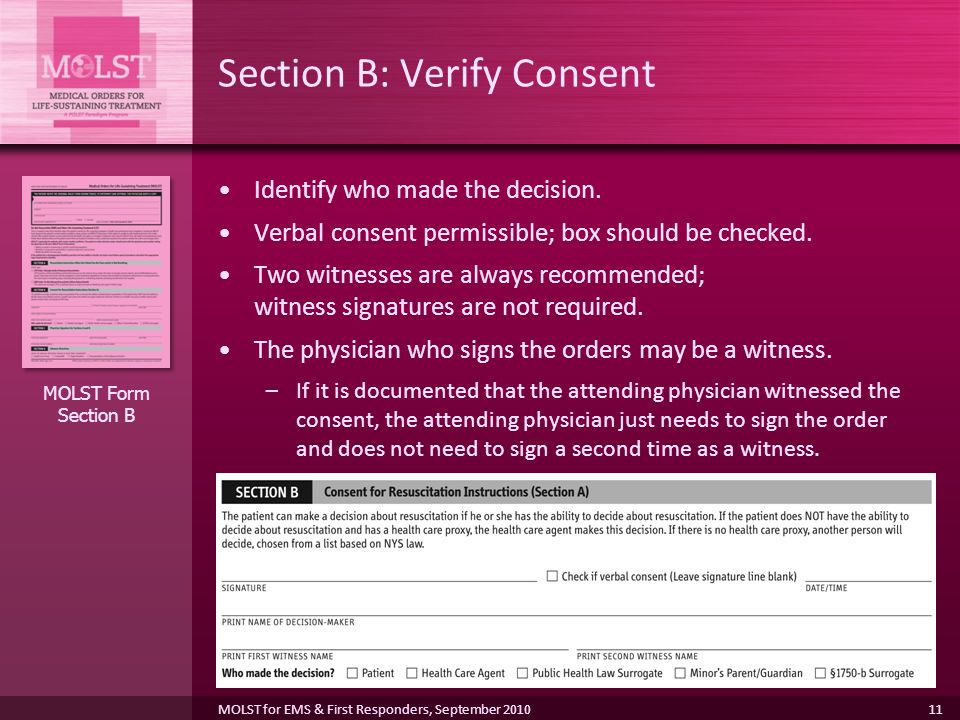 Section B: Verify Consent