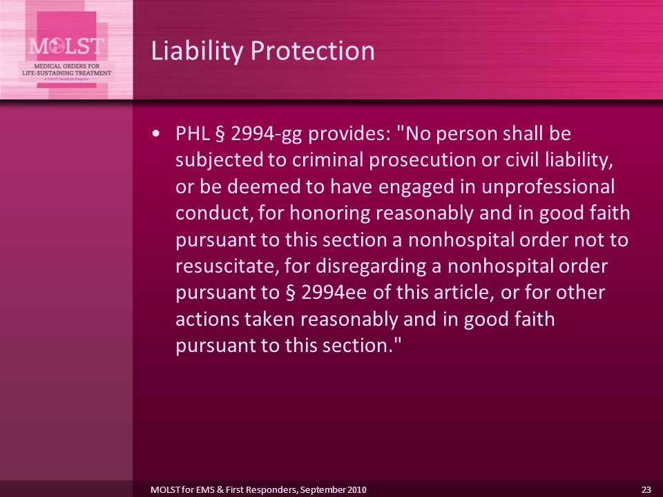 Liability Protection