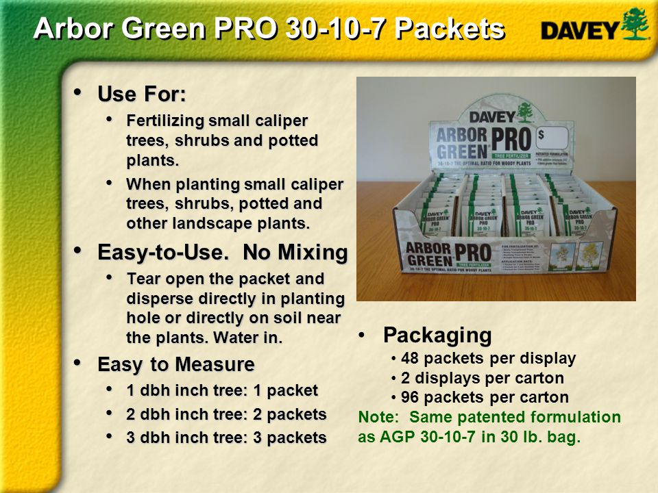 Arbor Green PRO 30-10-7 Packets