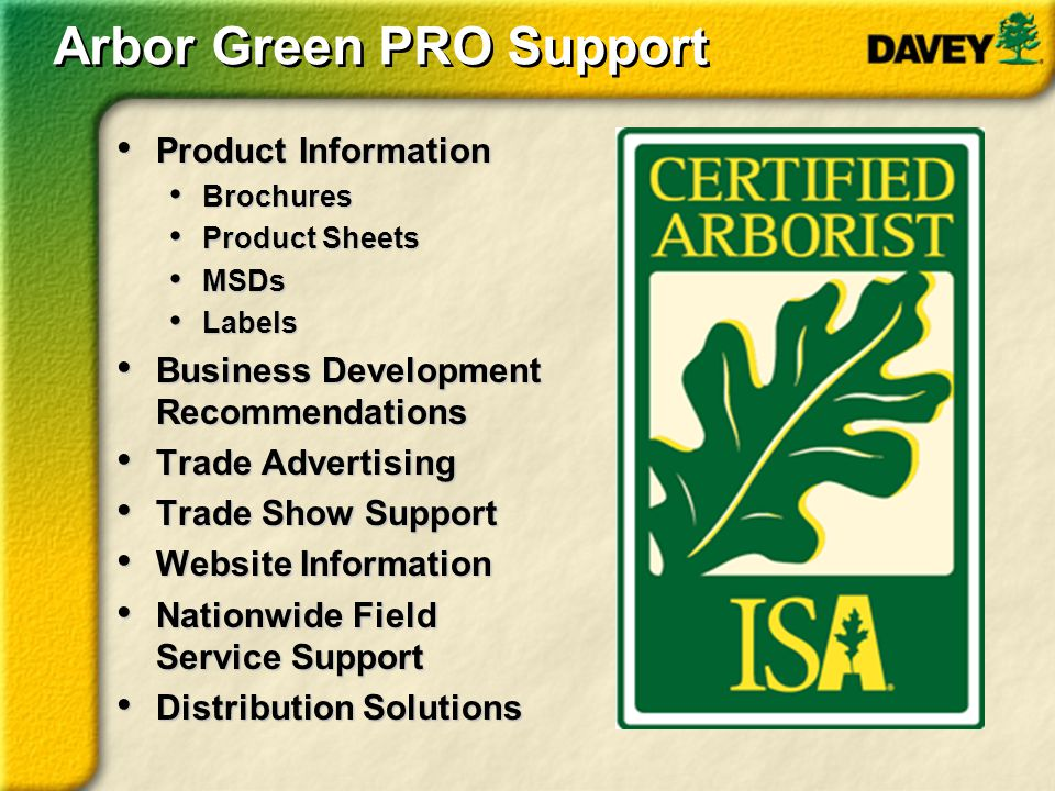 Arbor Green PRO Support