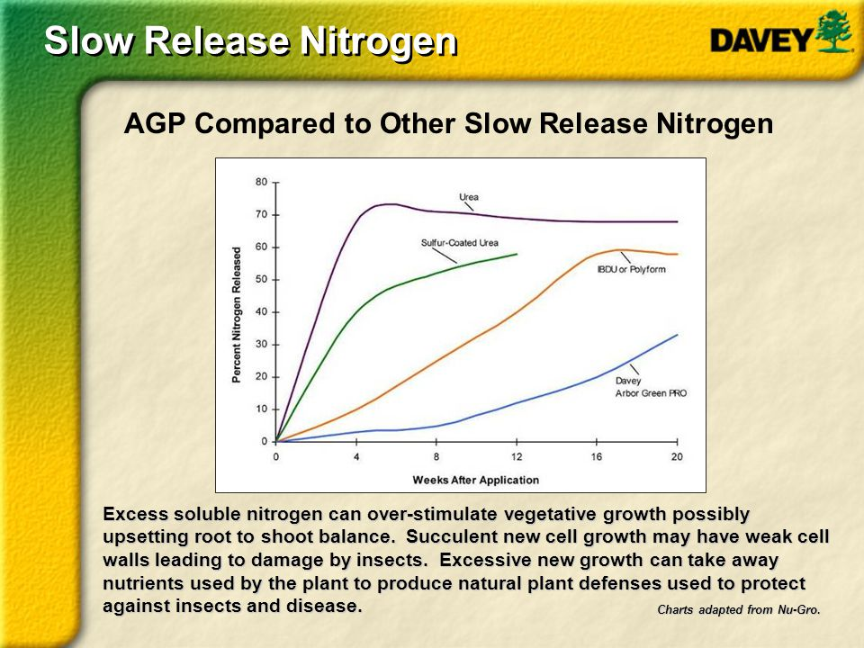 Slow Release Nitrogen AGP Compared to Other Slow Release Nitrogen