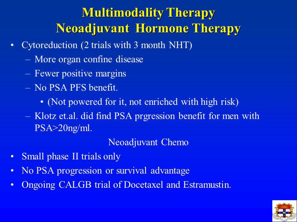 Multimodality Therapy Neoadjuvant Hormone Therapy