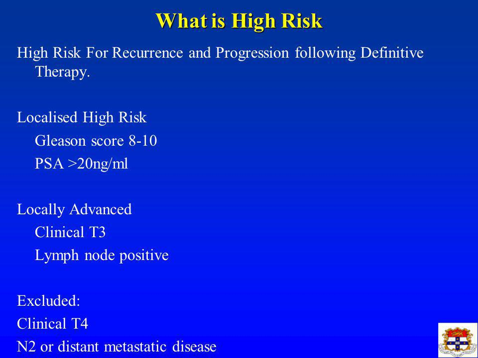 What is High Risk