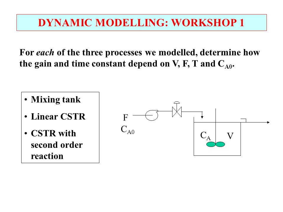 DYNAMIC MODELLING: WORKSHOP 1
