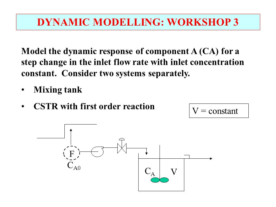 DYNAMIC MODELLING: WORKSHOP 3