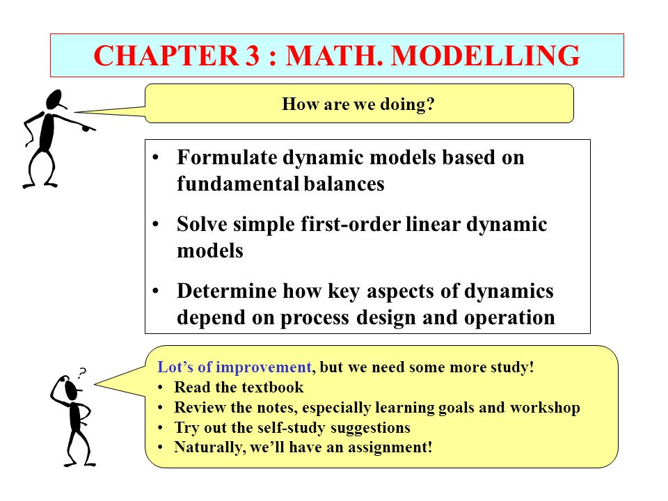 CHAPTER 3 : MATH. MODELLING