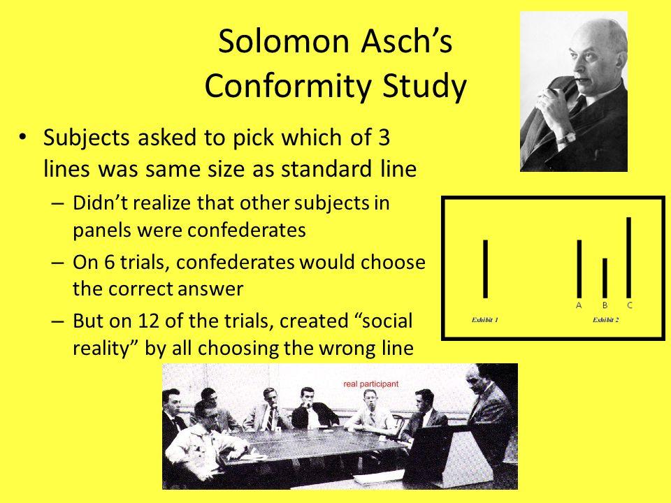 Solomon Asch's Conformity Study
