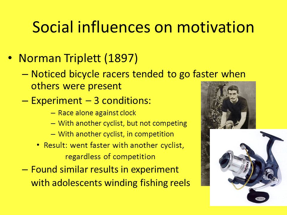 Social influences on motivation