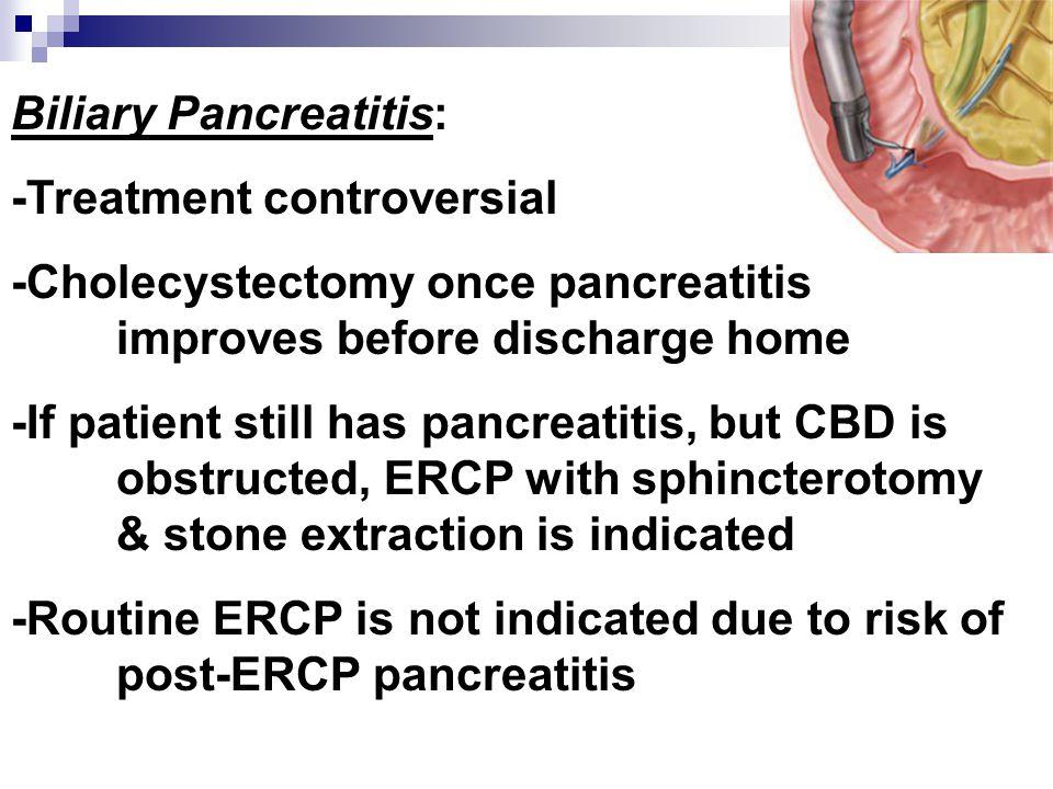 Biliary Pancreatitis: