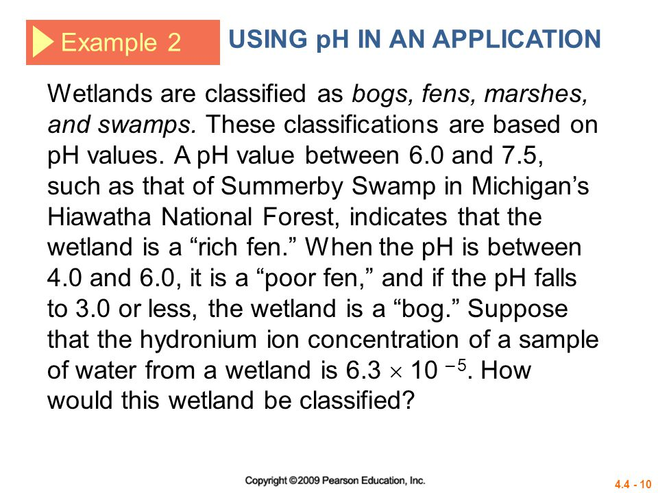 USING pH IN AN APPLICATION