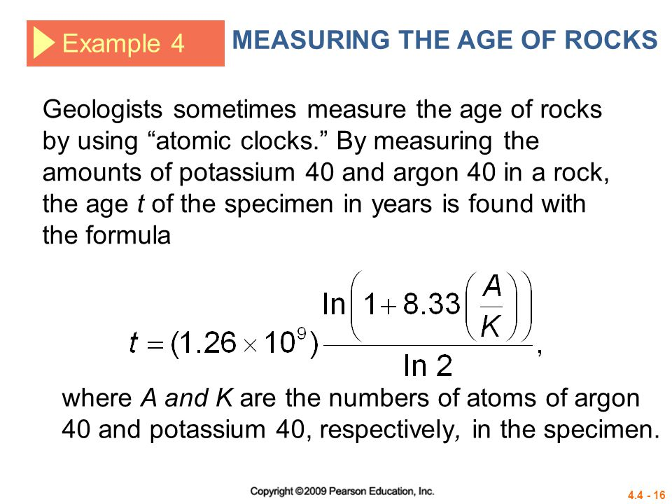 MEASURING THE AGE OF ROCKS