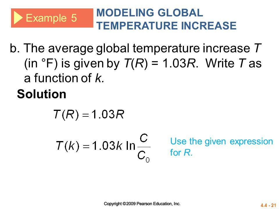 MODELING GLOBAL TEMPERATURE INCREASE