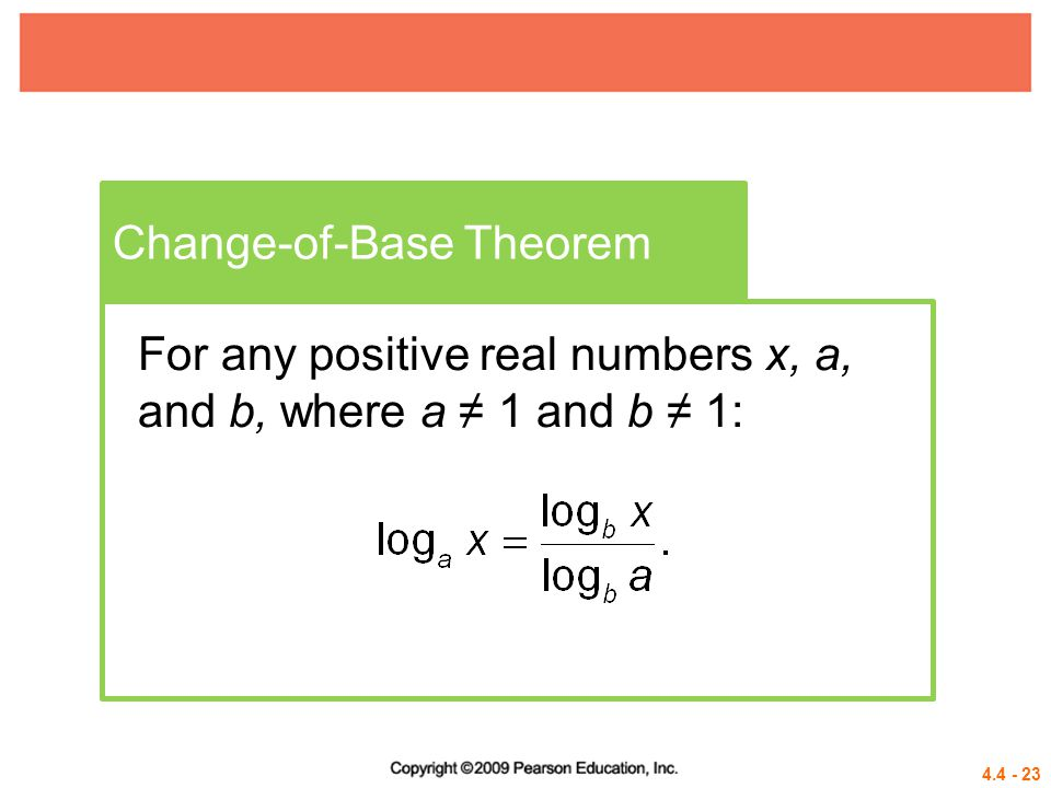 Change-of-Base Theorem