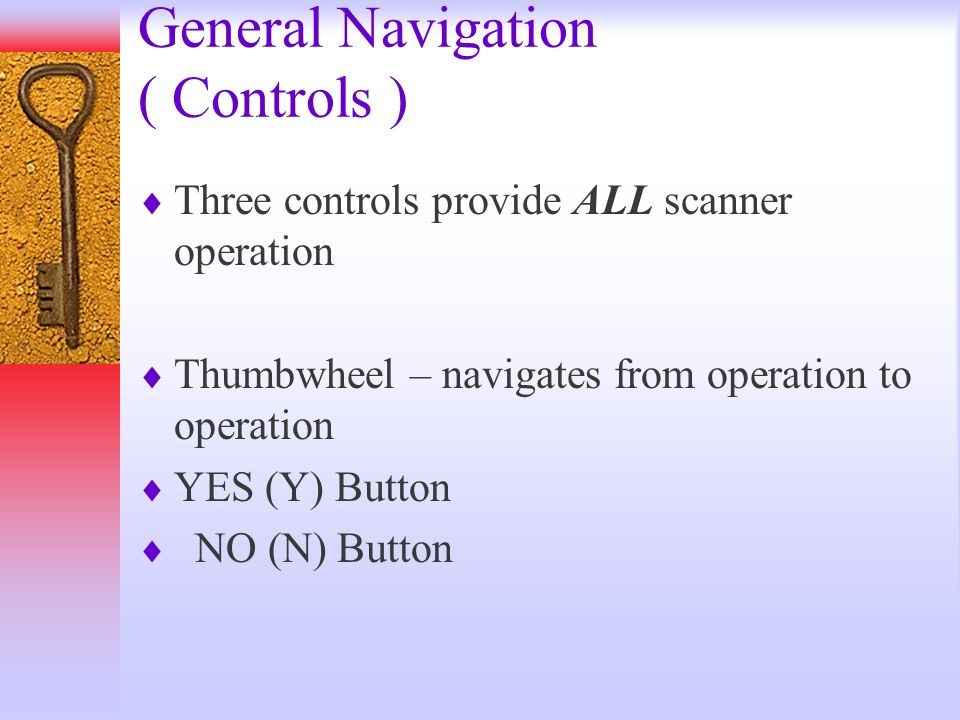 General Navigation ( Controls )