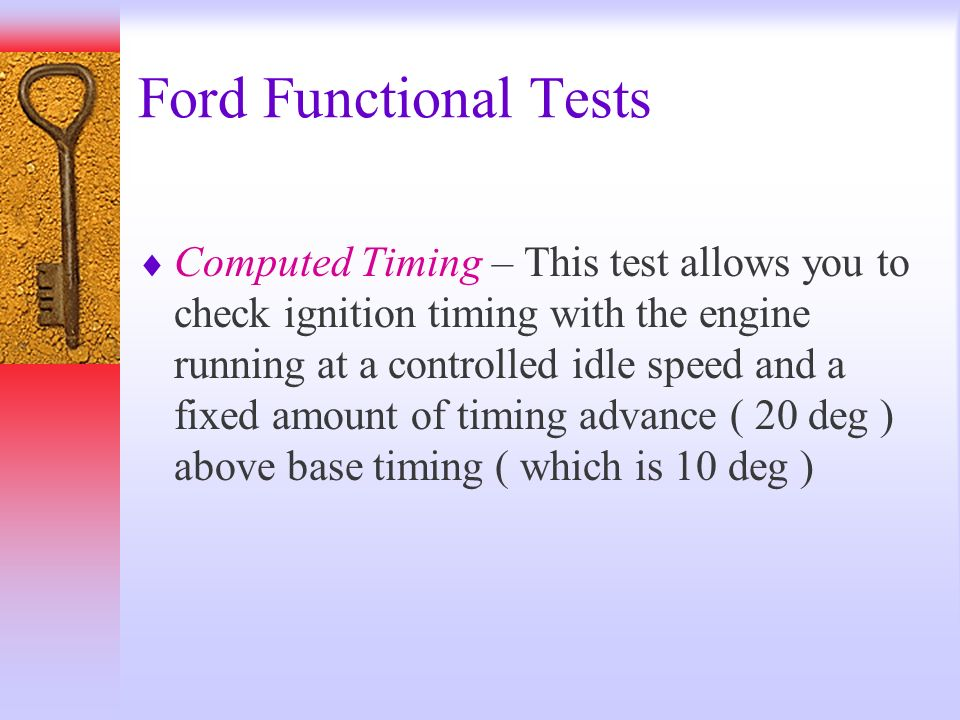 Ford Functional Tests