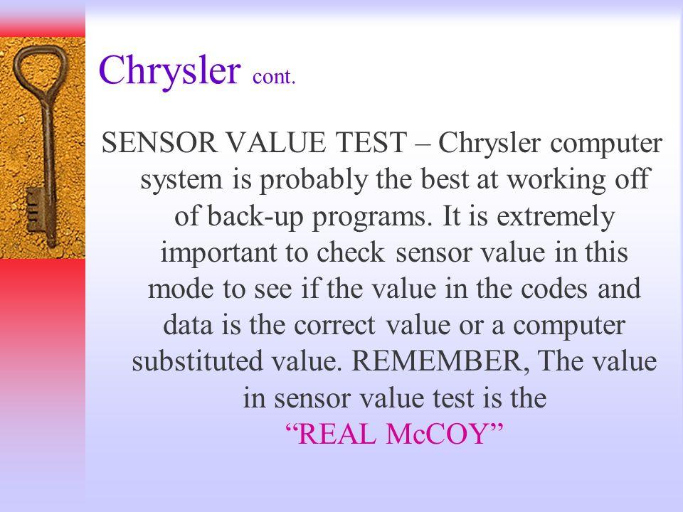 Chrysler cont.