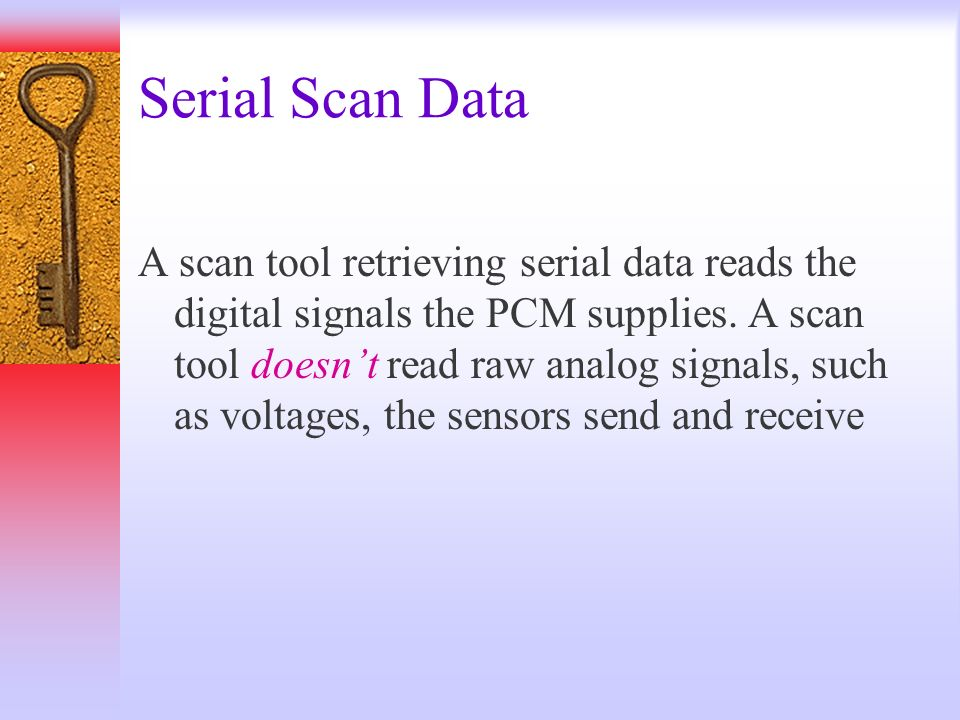 Serial Scan Data