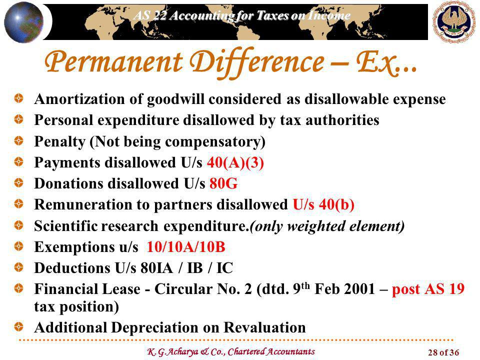 Permanent Difference – Ex...