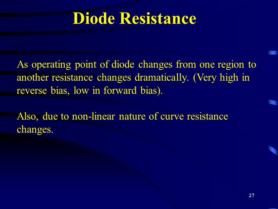 Diode Resistance